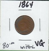 1864-l United States One Cent - Vg