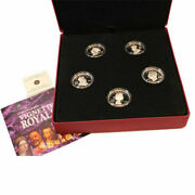 Canada Vignettes Of Royalty High Relief Sterling Silver 5 Coin Set With Case