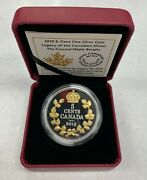 2015 Crossed Maple Boughs-legacy Canadian Nickel Proof 5 Cent Silver