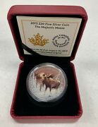 2015 'the Majestic Moose' Color Poorf 20 Silver Coin .9999 Fine