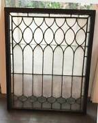 Antique Leaded Stained Window - Privacy Textured Glass