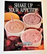 Vintage Dairy Queen Milk Shakes Promotional Poster Sign