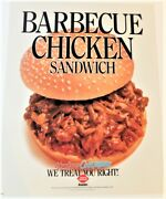 Vintage Dairy Queen Barbecue Chicken Sandwich Promotional Poster Sign