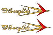 Two Fiberglide 16 Inch Stickers For Boat Restoration. Die-cut Ready
