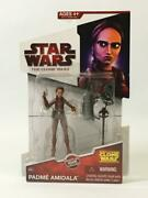 Star Wars The Clone Wars Padme Amidala With Grappling Hook Figure Cw35 Mip