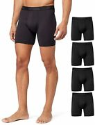 32 Degrees Cool Mens 4-pack Active Mesh Quick Dry Performance Boxer Brief