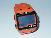 Used Timex Expedition Ws4 Watch T49761 Orange Altimeter Compass Barometer Abc