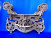 Barn Haul Antique Cast Iron Hay Trolley Dec 25th 1906 Christmas Day Patent