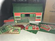 Vintage Milton Bradley Toy Farm Set Cardboard Barn And House And More