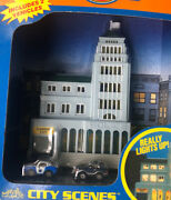 Vintage 1989 Micro Machines Light Up Police Station City Scene 6468 New Sealed