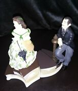 Gone With The Wind Rhett And Scarlett Music Boxes 73471 And 73472