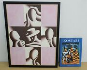 Mark Kostabi Toxic Shock Oil Painting 1998 Art Book With Signature