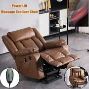 Zero Gravity Electric Leather Massage Chair Recliner Sofa Heated Lounge Armchair