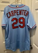 Chris Carpenter Andlsquo20 Game Used/worn/issued St. Louis Cardinals Powder Blue Jersey
