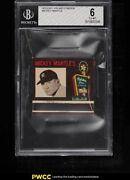1960 Holiday Inn Matchbook Mickey Mantle Nno Bgs 6 Exmt