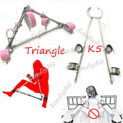 Stainless Steel Rack Spreader Bar Collar Hand Ankle Cuff Forced Posture Shackle
