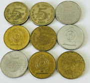 Sri Lanka 5 Rupees Coin Choose Your Date - Many Designs And Dates To Choose From