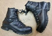 Meindl German Army Sf Issue Black Leather Goretex Combat Boots Size 12.5 Uk 576