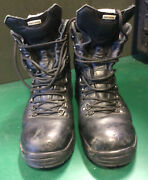 Altberg Boots Black Leather Size 9 Medium Fit Peacekeeper Army Hiking Used