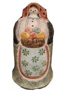 Pottery Woman Apron And Scarf The Cellar Italy For Fpo 1995 8.5 X 5 Figurine