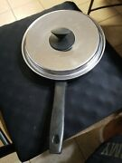 """Ekco Prudential Ware 9"""" Stainless Steel Skillet Fry Pan W/lid Ts-304 Stainless"""