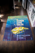 World Without Sun Cousteau 4x6 Ft French Grande Original Movie Poster 1964