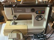 Vintage Brother Model Vx710 Sewing Machine With Accessory Case + Foot Pedal