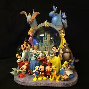 Disney Castle All Characters Statue Musical Box Lite Up Figurines Snowglobe-ios