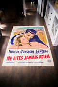 Never Say Goodbye 4x6 Ft French Grande Movie Poster Original 1956