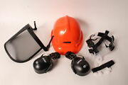 Echo 99988801500 6pt Safety Harness Chainsaw Safety Helmet With Ear Muffs Visor