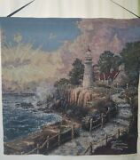 Thomas Kinkade The Light Of Peace Banner Embroidered Made Usa 26 X 26 Inch