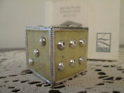 Silver-plate Pearl Collection By Lunt Yellow Pearl Heavy Dice Paperweight Nib