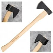 Cold Steel Hudson Bay Camp Axe 90qb 1055 Carbon Steel Hickory Handle Camping