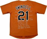 Greg Swindell Signed Texas Longhorns Jersey With 15 Inscriptions Le Of 5 Tristar