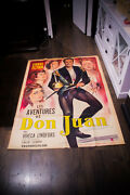 Adventures Of Don Juan 4x6 Ft French Grande Movie Poster Original 1948 Used