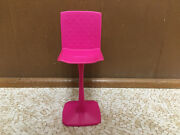 Barbie Doll Glam Getaway House Replace Kitchen Bar Stool Parlor Pink Chair Rare
