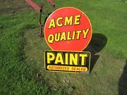 Vintage Original Not Repo.double Sided Acme Paintnicebuy It Now/good Offer
