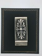 Chrome Hearts 1995 Sterling Silver Floral Cross Money Clip 30.7g