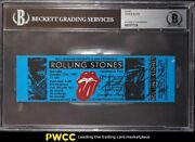 1981 Rolling Stones San Francisco Full Ticket Charlie Watts Auto Bgs Auth