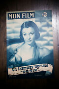 A Streetcar Named Desire 1952 Original First Post-war Release French Program