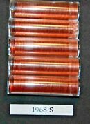 5 Rolls Of 1968-s Lincoln Memorial Cent Rolls Bu To Gem Dealer Inventory
