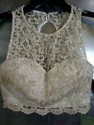 My Michelle 2 Pc Short Homecoming Prom Dress Sz 5 Jr Gold White Dance Party
