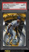 1997 Pinnacle Totally Certified Platinum Gold Rickey Henderson /30 Psa 9 Mint