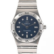 Omega Constellation Mini Cindy Crawford 1563-86 Womenand039s Watch Stainless/brac...