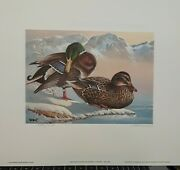 1986 Washington First Of State Duck Stamp And Print By Artist Keith Warrick 3043