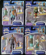 New Space Jam Action Figures Lot 4 - Lebron James Bugs Bunny Marvin The Martian