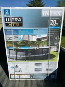 Intex 20and039 X 48 Ultra Xtr Frame Round Swimming Pool Set W/ Sand Filter Pump New