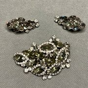 Vintage Weiss Costume Jewelry Brooch And Clip-on Earrings