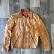 East West Musical Instruments Jacket Coat Leather 60s 70s Boho Hippie Woodstock