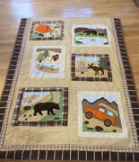 Woolrich Twin Quilt Camping Jeep Bear Outdoor